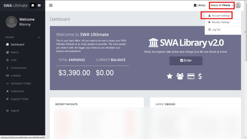 SWA Ultimate Payout Detail