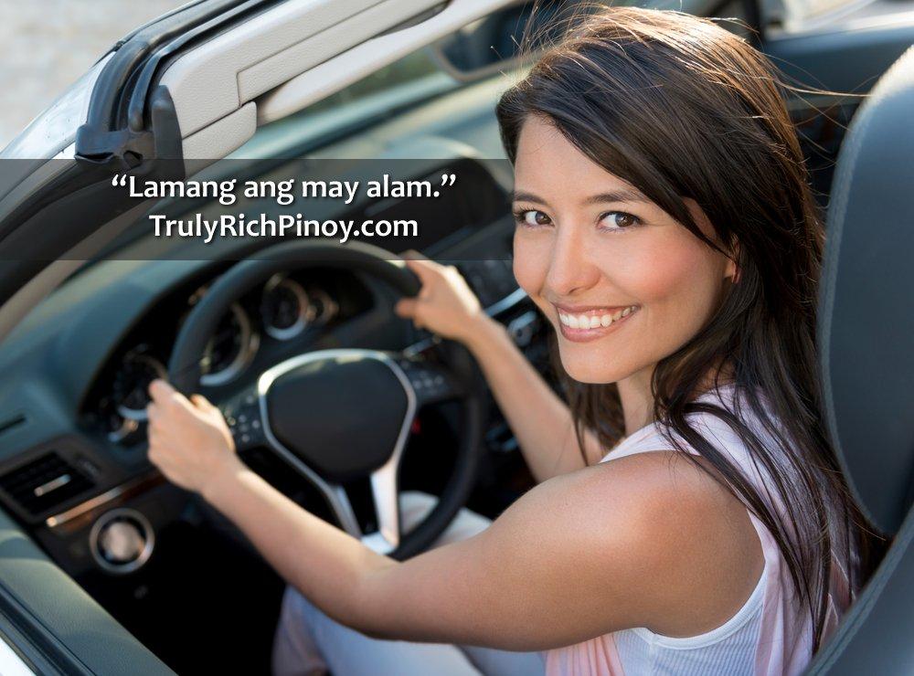 Truly Rich Club Woman Driving Car