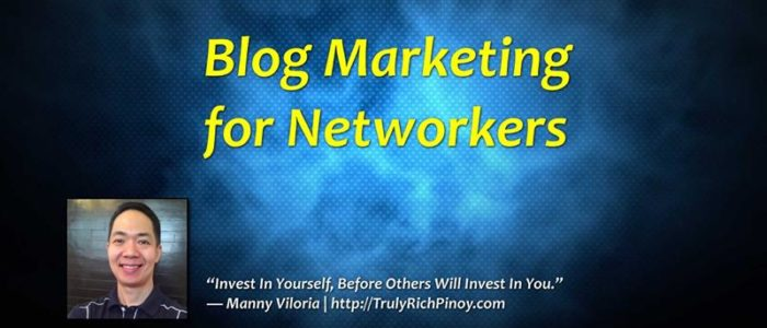 Blog Marketing Secrets Revealed – Manny M. Viloria