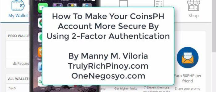Secure CoinsPH Via 2FA – OneNegosyo.com