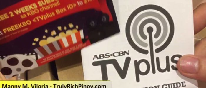 Unboxing of TV Plus