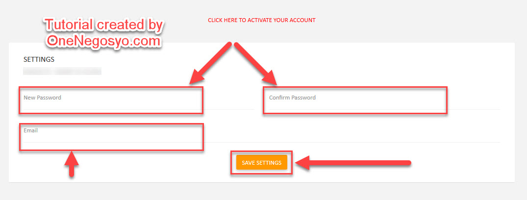 Step 7 - Enter New Password and Email Address